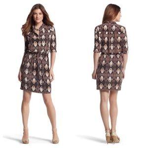 WHBM Python Snake Print Jersey Dress Sz Small